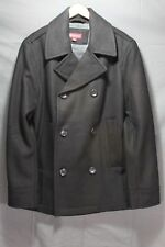 NWOT Men's Peacoat  Wool Blend Medium Black
