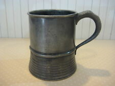 "ANTIQUE THOMAS E WILLIAMS  ENGLAND PEWTER TANKARD STEIN, HALLMARK, 4 1/3"" TALL"