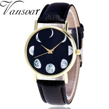 2018 Watch Moon Pattern Color Male And Female Strap Wrist Watch A