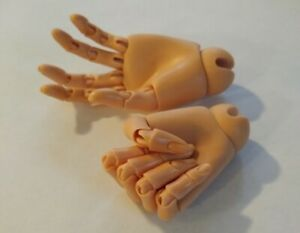 New -  Doll Zone Jointed Male Hands - color tone Tan- size 65cm