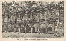 A1519 Croazia - Sebenico - Casino civico - Xilografia Antica 1895 - Engraving