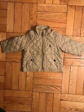 Polo by Ralph Lauren Classic Baby Boy Girl Quilted Zipper Jacket Khaki 9M