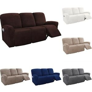 1/2/3 Seaters Recliner Chair Slip Cover Armchair Slipcover Sofa Couch Protector