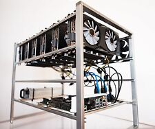 Ethereum ETH Ether Mining CASE Rig Built 6 Video Cards GPU Zcash/Monero in Stock