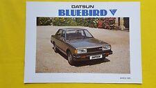 Datsun Bluebird Saloon Estate 1.8 car brochure catalogue March 1983 MINT Nissan