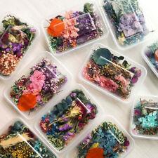 1 Caja mezclados a granel Flores Secas Plantas Resina Epoxi UV Aromaterapia Vela al azar