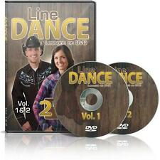 Line Dance Lessons on DVD Volume 1&2 DVD VG #