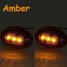 2x Amber Side Fender Marker 3LEDS Dually Bed Light For 1999-2010 Ford F250 F350