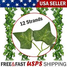 Fake-Plants Artificial Hanging Flowers Leaves Long Green Silk Ivy Vine Garland
