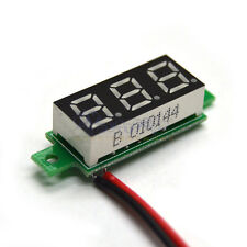 Digital Blue LED Car Voltmeter Voltage Panel Guage Meter DC 3.5-30V Mini