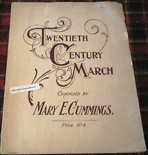 TWENTIETH CENTURY MARCH 1904 Vintage Sheet Music Vintage Song Book Mary Cummings