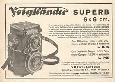 W2410 VOIGTLAENDER Superb 6 x 6 cm. - Pubblicità del 1935 - Old advertising