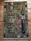 •298• Beautifully Handmade  Genuine Afghan War Rug, 87x59 cm