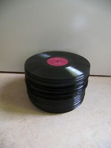 "100 große Schallplatten Vinyl 12"" zum Basteln Deko Partykeller Kunst Frisbee..."