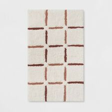 "Composition Grid Bath Rug Musk Melon - 32""x20"" - Project 62 - NWT"