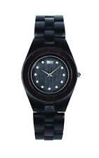 WeWood Wooden Watch - Odyssey Crystal Black Wood Wristwatch Timepiece