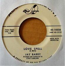 TEEN SOUND - JAY BARRY - LOVE BANK b/w LOVE SPELL - ABC.PAR. - WLP 45