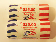2009 P & D Zachary Taylor Presidential Dollar Sealed Mint Rolls (Uncirculated)