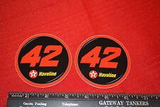 2 NASCAR TEXACO HAVOLINE GANASSI MEARS MONTOYA McMURRAY #42 ROUND DECALS