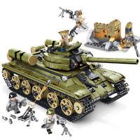 683pcs Militär T-34 Panzer Gepanzerter Modell Bausteine mit WW2 Soldat Figuren