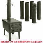 Outdoor Wood Stove Cast Iron Portable Camping with Pipe For Vented Tent Cooking photo