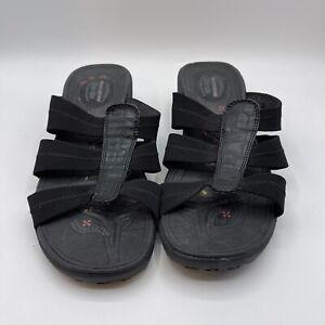 Sketchers Tone Up Women's Size 7 Black Sandals 38725