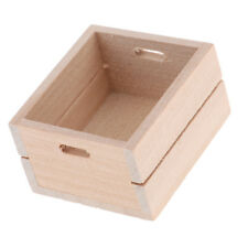 1/12 Scale Dolls House Miniature Wooden Fruit Vegetable Storage Box Items