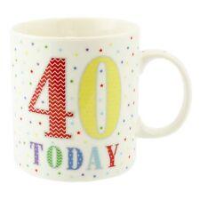 """Hito Cumpleaños Tazas -'40 hoy """"Fine China y en caja-LP33522"""