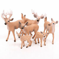 Mini Deer Figure Christmas Doll White-tailed Reindeer Home Party Decor Gift UK*s