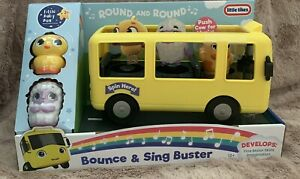 Little Tikes Little Baby Bum Wheels On The Bus Bounce & Sing Buster & 3 Figures!