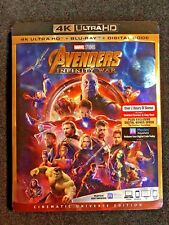 Avengers: Infinity War (4K UHD + Blu-Ray) NEW!!! w/SLIP COVER *FAST FREE SHIP*