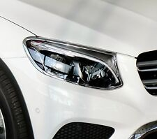 Mercedes GLC X253 Chrome Headlight Trim Bezels by Luxury Trims 2016-2018
