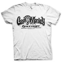 Gas Monkey Garage Logo Blood Sweat Beers GMG Männer Men T-Shirt Weiss White