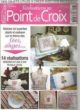 POINT DE CROIX N°06 - THEME : FEES, ANGES / SET DE TABLE / COUSSIN ALLIANCES