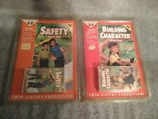 Twin Sisters Productions Tape & Activity Book lot. Safety & Building Character