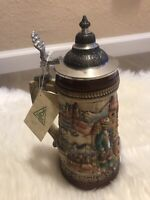 Zoller & Born Limited Edition Stein Hand Painted German Cities Lidded Beer Mug!