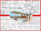 "Model Airplane Plans (FF): ALBATROS CIII scale 39"" for .75-.1cc (.049ci) engines"
