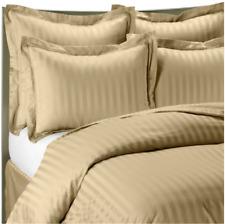 Wamsutta® 500 Damask Stripe Standard Sham 100% Egyptian Cotton in Wheat