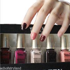 5Pcs/set 6ml Mini Dark Red Pink Nude Nail Art Polish Eco-friendly Varnish DIY