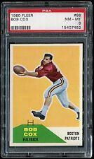 1960 Fleer #86 Bob Cox *Patriots* PSA 8 NM-MT Cert #15407482