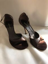 NEW Banana Republic strappy high heels Pumps Brown suede shoes Sz 10 made ITALY