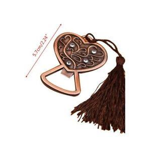 Antique Copper Vintage Handheld  Heart Bottle Opener Gifts Favors New UK Stock