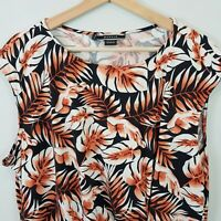 [ BASQUE ] Womens Floral Print Top   Size AU 20 or US 16