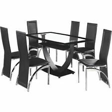 Kitchen Modern Table & Chair Sets with 6 Pieces
