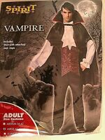 Spirit Vampire Costume Adult Large 42-46 Includes Shirt with attached vest, Cape