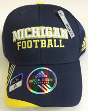 NCAA Michigan Wolverines Adidas Mesh Curve Brim flex Fitted Cap Hat NEW!