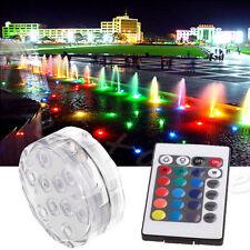 RGB LED Unterwasserlichtshow Unterwasser Lampe Poolbeleuchtung mit Fernbedienung