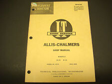 I & T Shop Service Manual, Allis-Chalmers AC-14 Models D-10 D-12