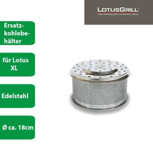 LotusGrill Kohlebehälter Edelstahl  XL Ersatzkohlebehälter Ersatzteil - DHL
