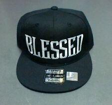 BLESSED SNAP BACK HAT-BLACK
